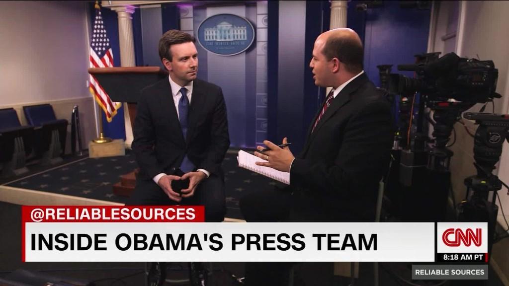 Press secretary Josh Earnest's advice for his successor Sean Spicer