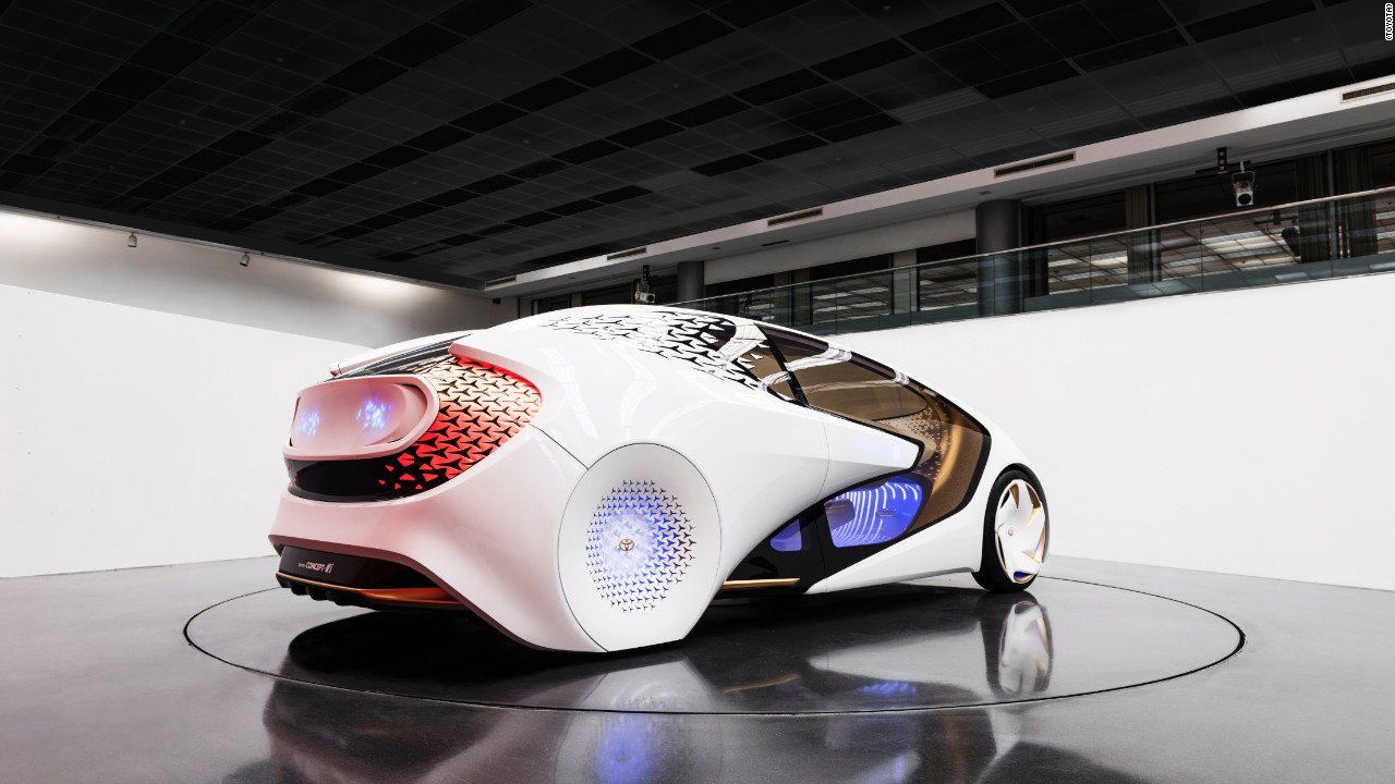 Toyota showed off its new concept car at the 2017 consumer electronics show