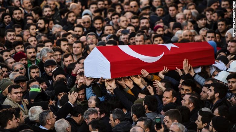 Istanbul funeral terrorist attack