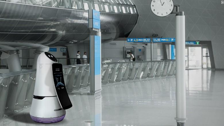 lg airport robot ces 2017