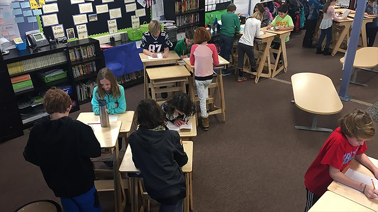 Teachers Welcome Standing Desks In The Classroom Jan 10