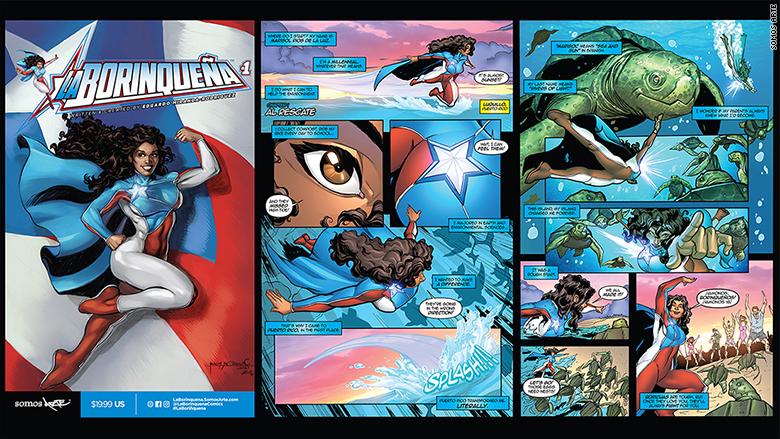 puerto rican superhero triptych