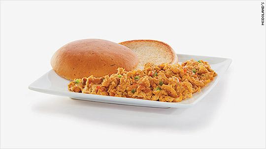 インドのマクドナルドのマサラスクランブルエッグ