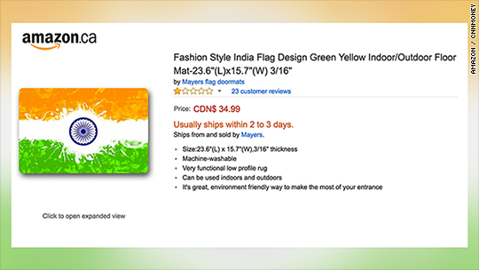 Amazon halts sales of Indian flag doormats