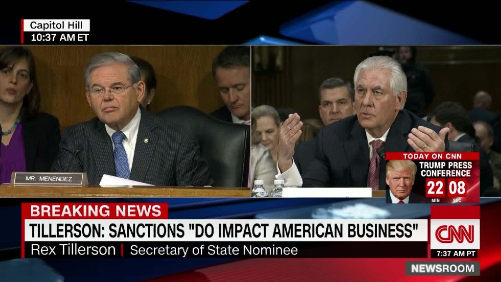 Tillerson: Sanctions harm U.S. businesses 'by their design'
