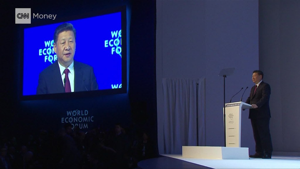 Chinese president's Davos globalization speech in 2 mins