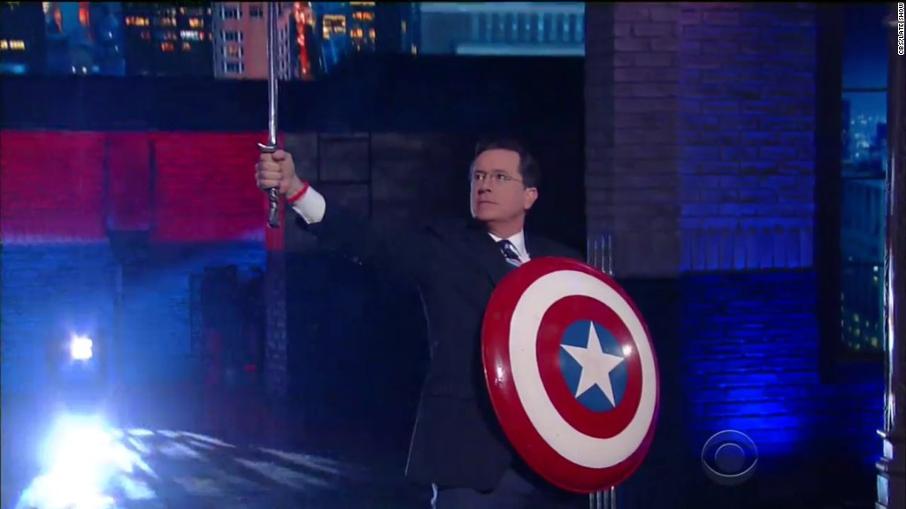 Colbert's alter ego returns to tease budget