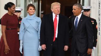 Trump inauguration Obama