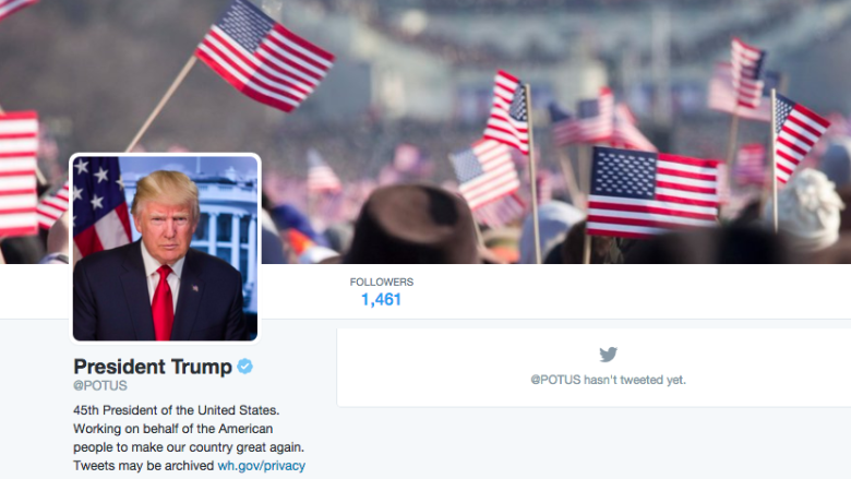trump potus account
