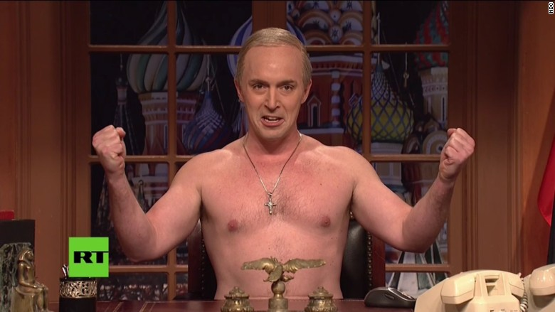 'Saturday Night Live' has a shirtless Putin address America