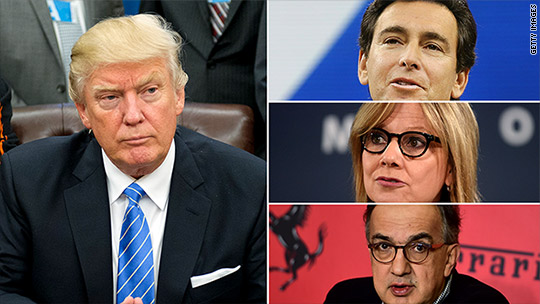 Detroit at the White House: Trump to meet with Big Three auto CEOs