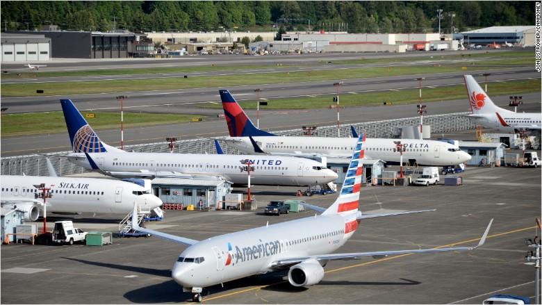 american delta united boeing 737