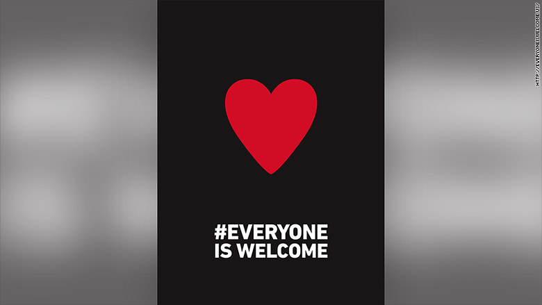 nandos everyone is welcome poster