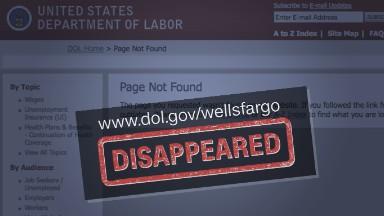 Elizabeth Warren asks why federal Wells Fargo complaint site has vanished