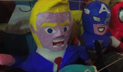 Trump piñatas selling out in Mexico