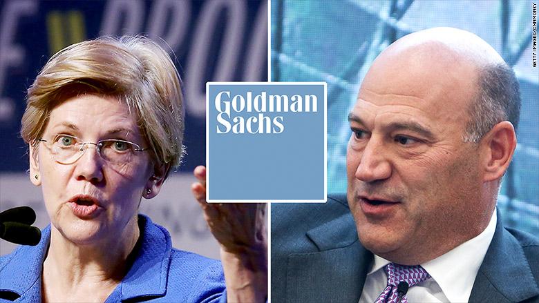 elizabeth warren gary cohn goldman sachs