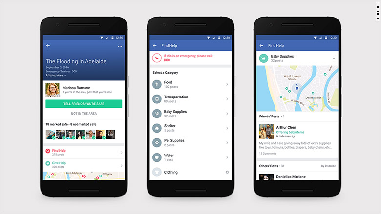 facebook community help safety