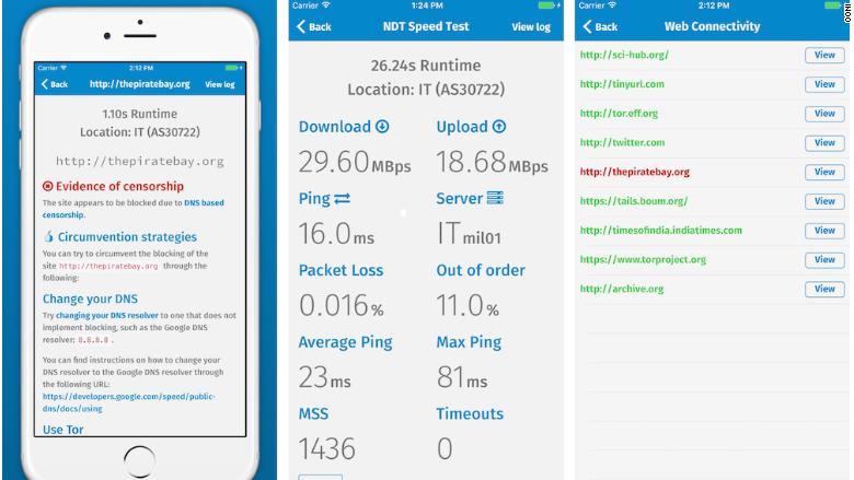 ooniprobe app