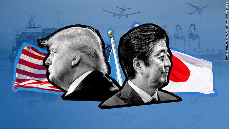 Trump holds press conference with Japanese PM Abe
