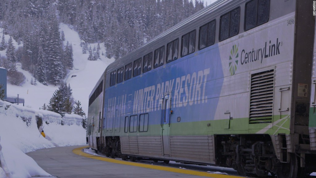 Two hours. 28 tunnels. 9,000-feet high: America's only Amtrak train that goes from city to ski slope