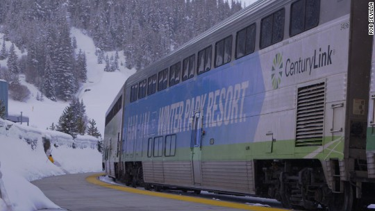 The only Amtrak train that goes from city to ski slope