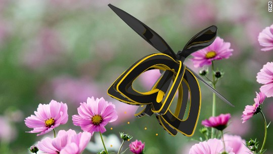 This 'bee' drone is a robotic flower pollinator