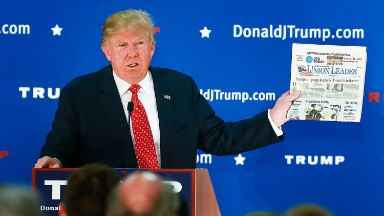 Trump's outburst at the New York Times a result of his preference for print?