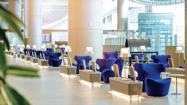 best airport lounges qatar doha