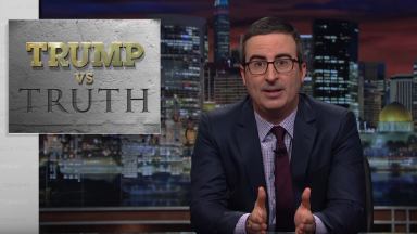 John Oliver runs ads on cable news in bid to reach Donald Trump