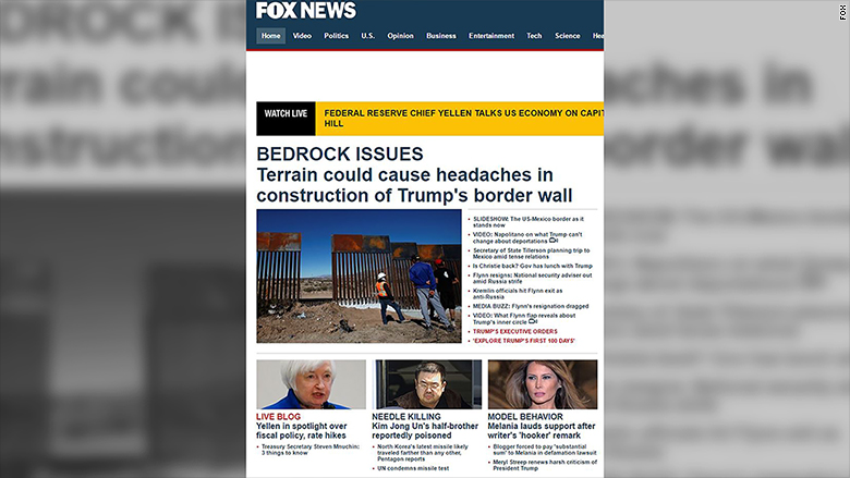 fox news home page flynn