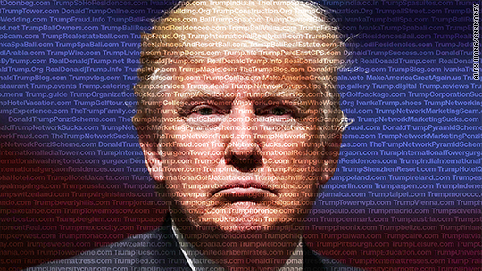 Trump has 3,643 websites that range from TrumpEmpire.com to TrumpFraud.org