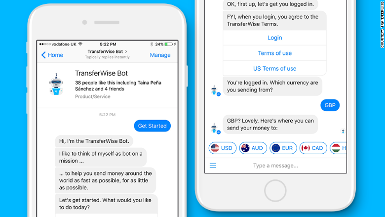 TransferWise global money transfers now on Facebook