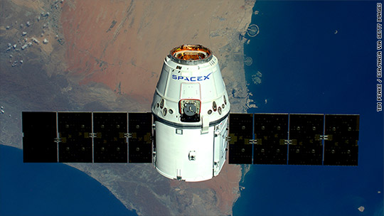 SpaceX docks with space station on second try