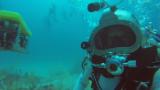Astronauts are spacewalking underwater