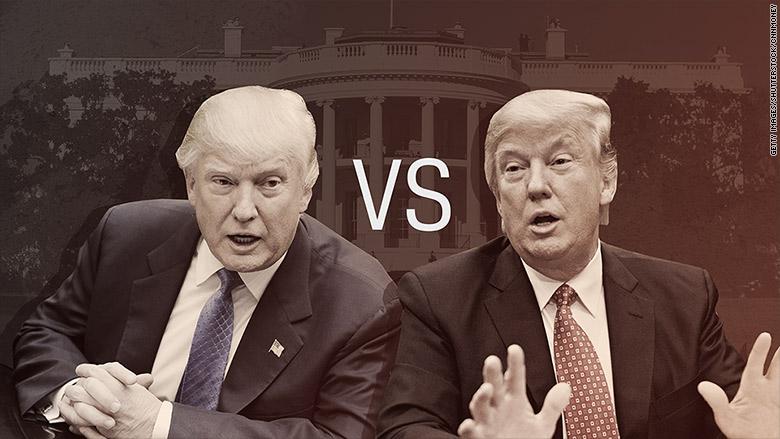 Trump vs. Trump: Who to believe?