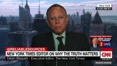 "NYT editor: Trump's attacks are ""failing"""