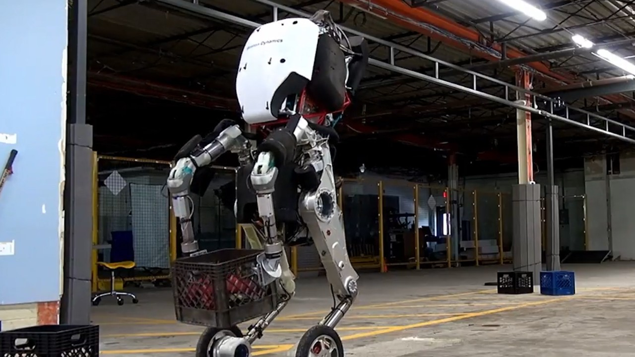 """Google's New Humanoid Robot Is 6'6"""", Has Wheels For Feet"""