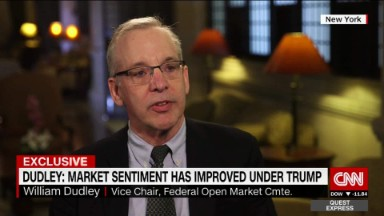 NY Fed president: Market sentiment improved under Trump