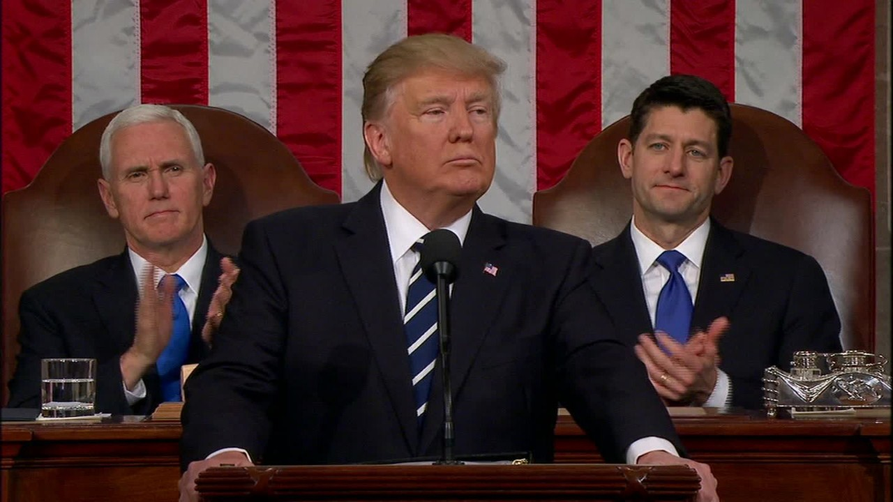 in his first address to congress donald trump said there is lawless chaos at the countrys borders and for that reason he wants to build a great great