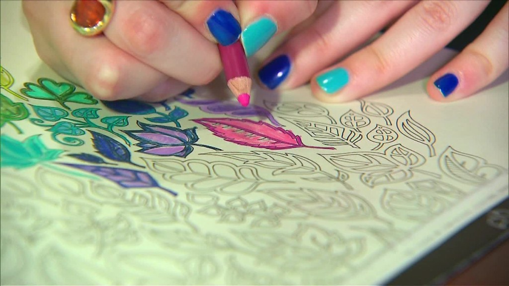Coloring books help adults de-stress