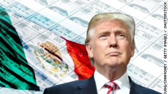 mexico pesos flag trump