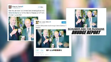 Trump tweet on Schumer echoes Drudge