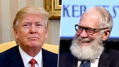 Letterman says he would've 'gone to work on Trump.' His successor is doing just that