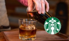 Starbucks unveils whiskey barrel-aged coffee. Yum!