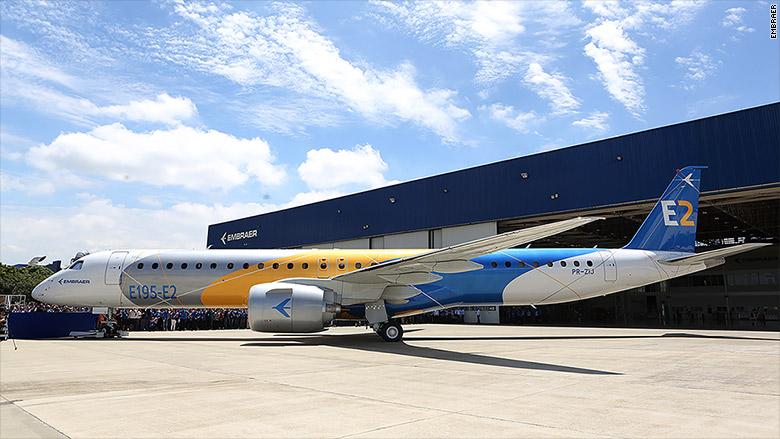 Embraer rolls out E195-E2 jet
