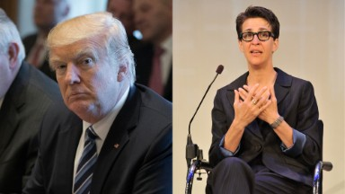Rachel Maddow's epic buildup to ... 2 pages from Trump's 2005 tax returns