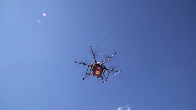 Rakuten flying drone
