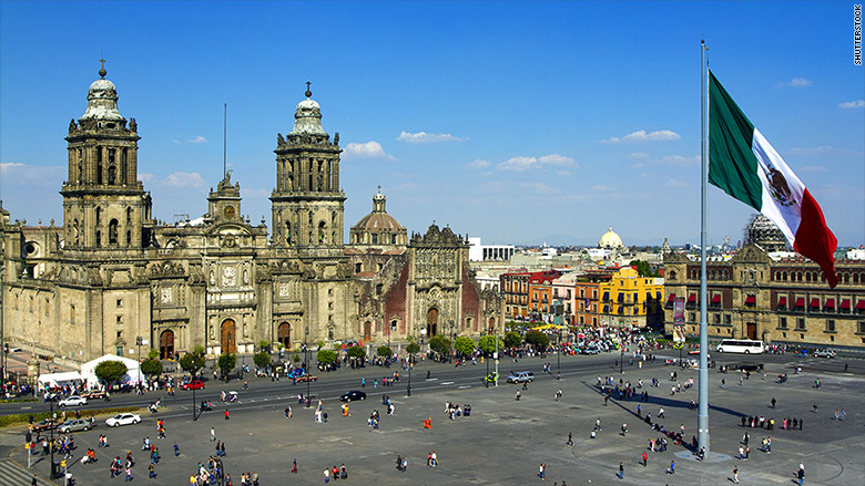 top countries tourism mexico