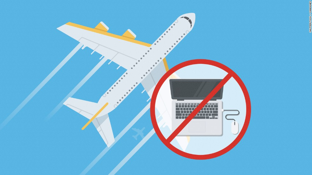 Large electronics banned from cabins on some flights