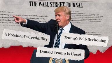The Wall Street Journal and Trump: a history of hostility